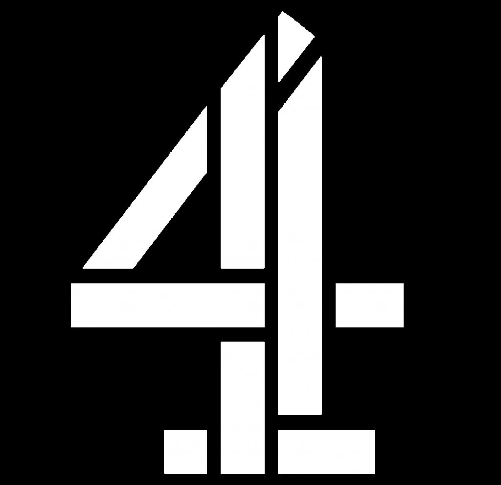 channel 4 logo in white